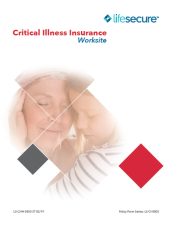 lifesecure critical illness insurance compare