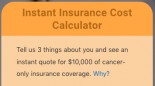Cost of cancer insurance calculator
