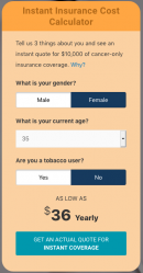 cancer insurance quote female age 45